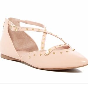 14th Union Dru Blush Pink Gold Studded Flats 7.5
